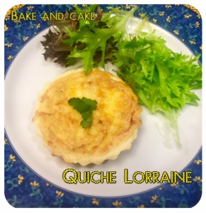 Quiche Lorraine @bakeandcakebr em porção individual